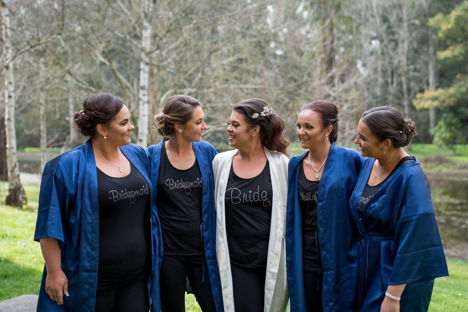 Melbourne Wedding Photographer Bride with Bridesmaids