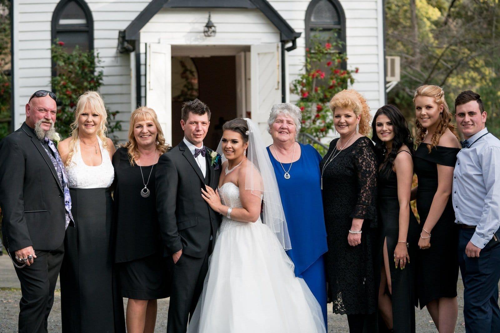 Chateau Wyuna Wedding Chapel Family Photos
