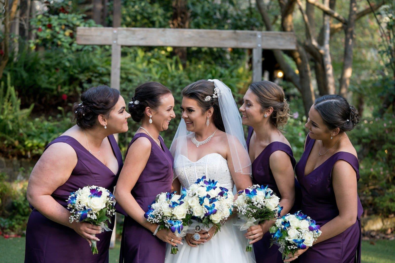Chateau Wyuna Wedding Chapel Bridal Party Photos