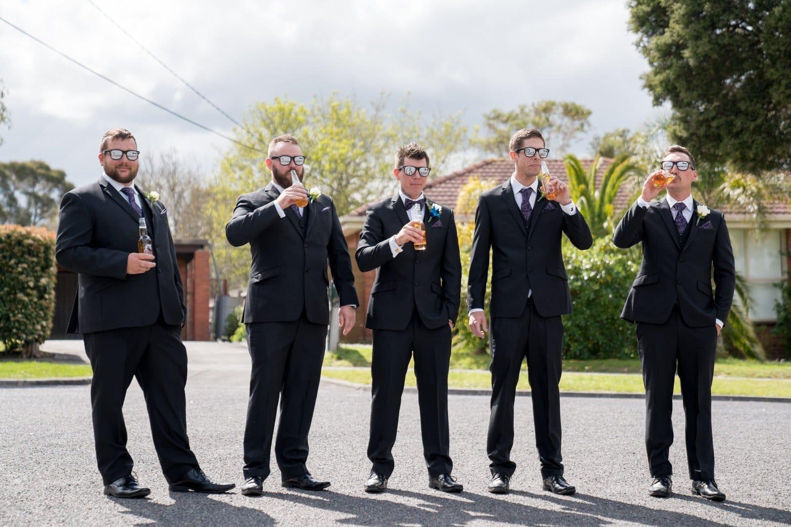 Melbourne Wedding Photographer Groom & Groomsmen