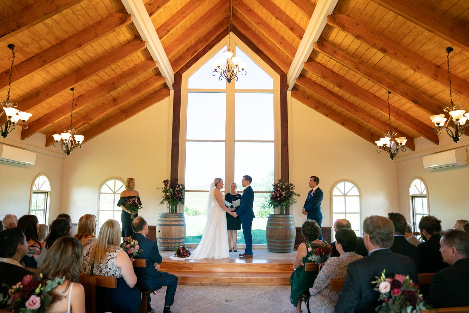 Wedding ceremony at Immerse Yarra Valley