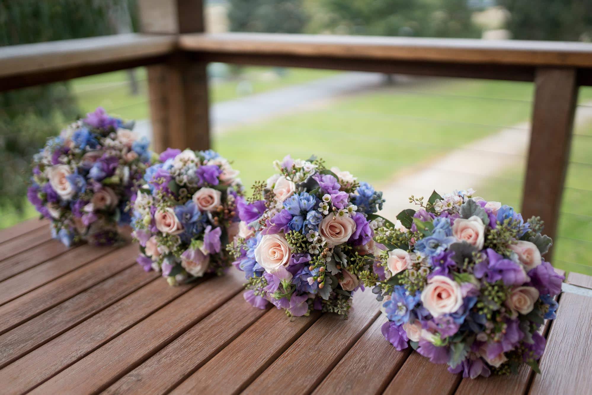 Cute Pink & Purple Wedding Bouquet