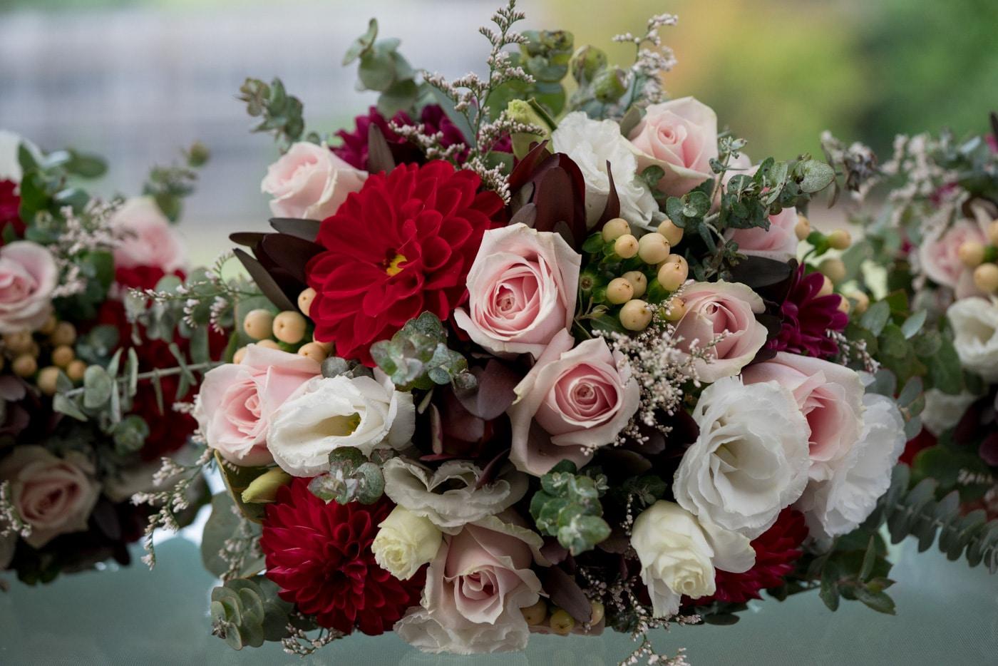 Deep colour bouquet ideas
