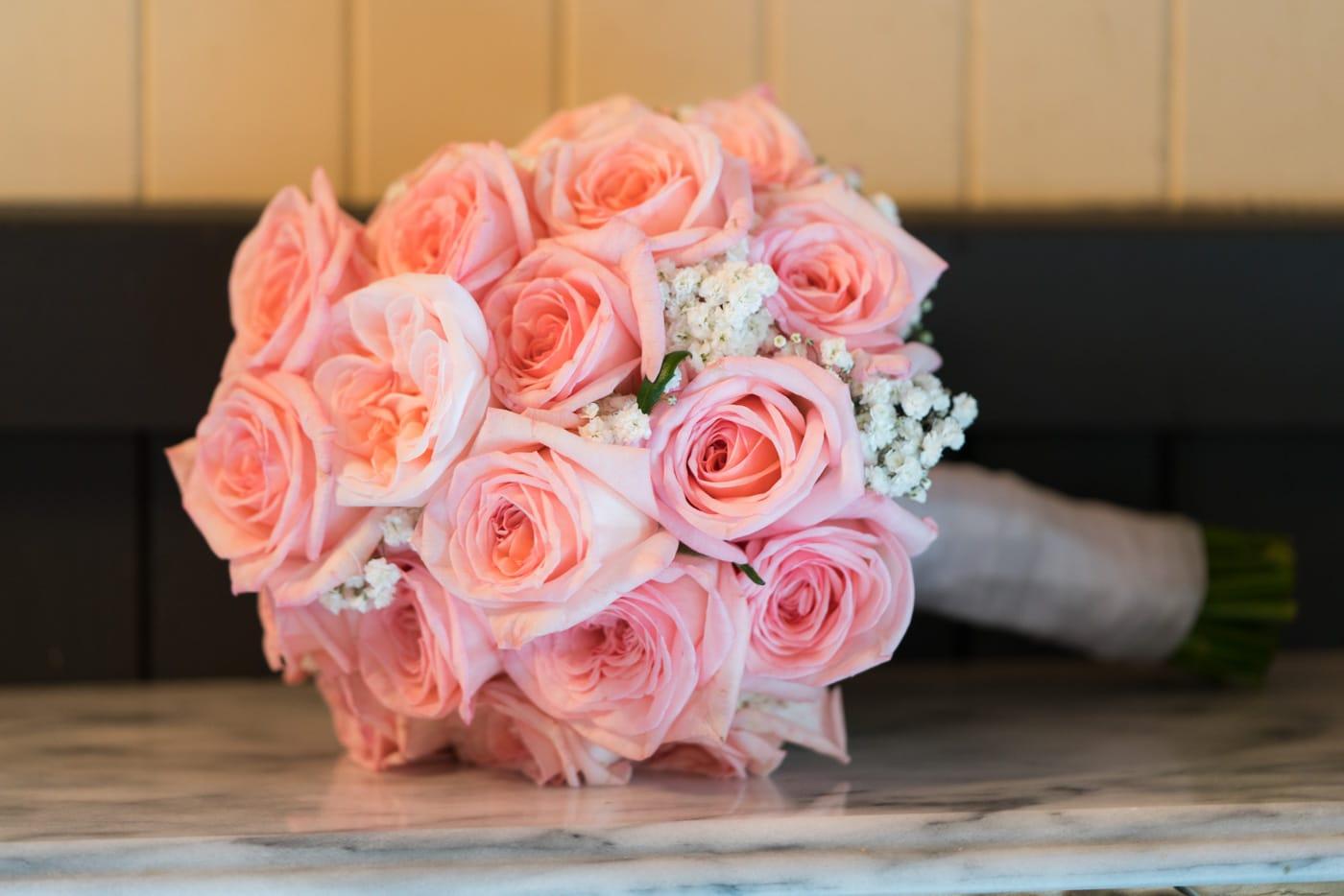 Soft Pink Rose Wedding Bouquet Ideas